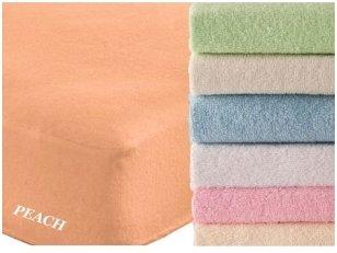 """Frotinė paklodė su guma """"SOFT""""  (Peach)"""