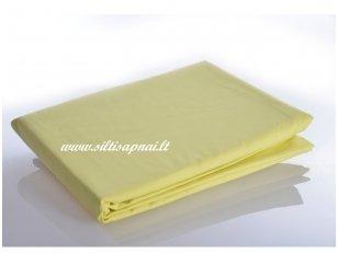 Medvilninė paklodė su guma (skaisti geltona)