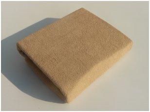 Frotinė paklodė su guma 60x120 cm (ruda)