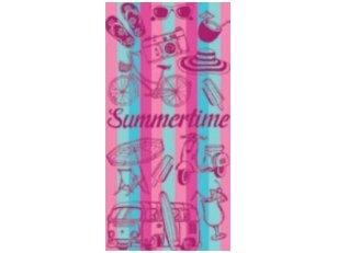 """Paplūdimio rankšluostis """"Summertime"""" (rausvas)"""