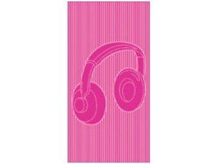 """Paplūdimio rankšluostis """"Ausinės"""" (rožinis)"""