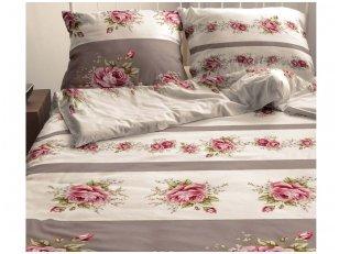 """Satino patalynės komplektas """"Vintažinės rožės"""" (200x220 cm)"""