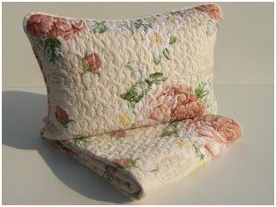 """Satino užklotas - lovos užtiesalas su užvalkalais pagalvėms """"Sabina"""""""