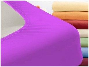 """Trikotažinė paklodė su guma """"Night"""" (violetinė)"""
