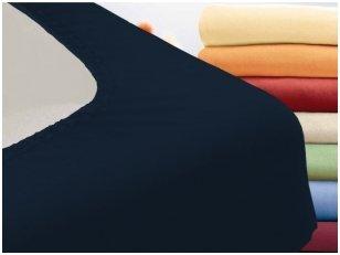 """Trikotažinė paklodė su guma """"Night"""" (tamsiai mėlyna)"""