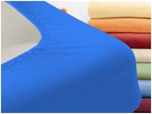 """Trikotažinė paklodė su guma """"Night"""" (mėlyna)"""