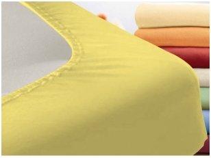 """Trikotažinė paklodė su guma """"Night"""" (geltona)"""