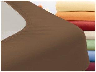 """Trikotažinė paklodė su guma """"Night"""" (švelniai ruda)"""