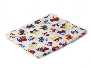 """Vaikiška medvilninė paklodė su guma """"Mažos mašinėlės"""""""