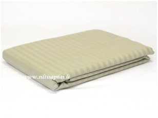"Juostuoto satino paklodė su guma  ""Dream""  (Cool grey) (90x200 cm, 160x200 cm)"
