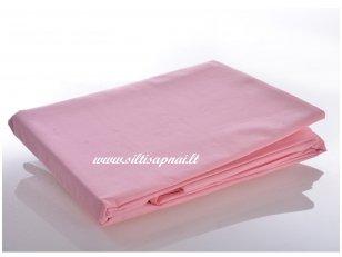 Medvilninė paklodė su guma (rožinė) (160x200 cm)