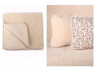 """RINKINYS Australijos merinosų vilnos antklodė ir pagalvė """"Migdolas"""""""
