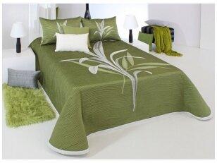 "Dvipusis lovos užtiesalas ""Lynette"" green (250x270 cm)"