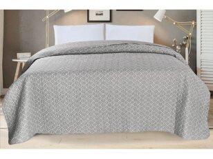 """Dygsniuotas lovos užtiesalas """"Atradimas"""" pilkas (240x260 cm)"""