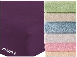 """Frotinė paklodė su guma """"SOFT""""  (Purple)"""