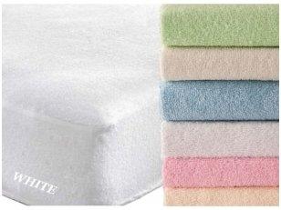 """Frotinė paklodė su guma """"SOFT""""  (White)"""