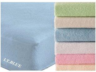 """Frotinė paklodė su guma """"SOFT""""  (Light blue)"""