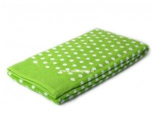 """NUKAINOTAS medvilninis rankšluostis """"Graphic Dots"""" (green) 50x100 cm. Nukainavimo priežastis - parduodami paskutiniai vienetai."""