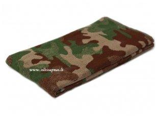 """Frotinis rankšluostis """"Camouflage"""" (green)"""