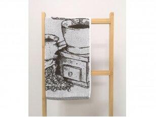 """Frotinis virtuvės rankšluostis """"Kava"""" (rudas) 50x50 cm"""