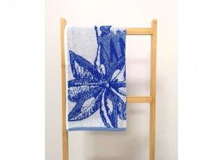 """Frotinis virtuvės rankšluostis """"Kava"""" (mėlynas) 50x50 cm"""