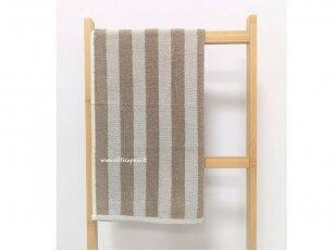 """Frotinis virtuvės rankšluostis """"Linijos"""" (kreminis) 50x50 cm"""