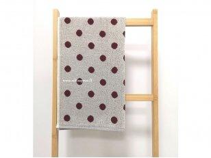 """Frotinis virtuvės rankšluostis """"Taškeliai"""" (raudonas) 50x50 cm"""