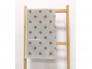 """Frotinis virtuvės rankšluostis """"Taškeliai"""" (kreminis) 50x50 cm"""