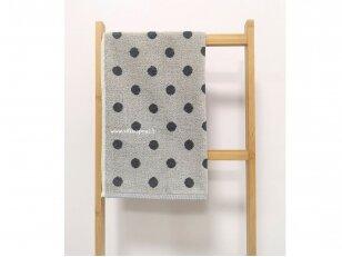 """Frotinis virtuvės rankšluostis """"Taškeliai"""" (pilkas) 50x50 cm"""
