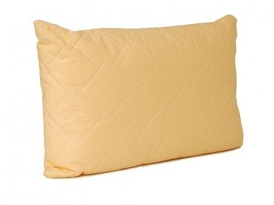 Vienspalvė pagalvė poliesterio užpildu daigstyta su vilna 2