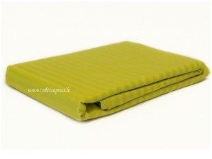 """Juostuoto satino paklodė su guma  """"Dream"""" (Dark yellow) (160x200 cm)"""