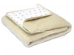"""Kupranugarių vilnos antklodė """"Švelnios žvaigždės"""" 100x140 cm"""