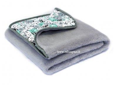 """Kašmyro vilnos antklodė """"Mieli Katinėliai"""" 100x140 cm"""