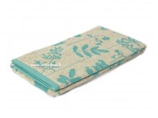 "Lininis rankšluostis ""Botanic"" (turquoise, 100x150 cm)"