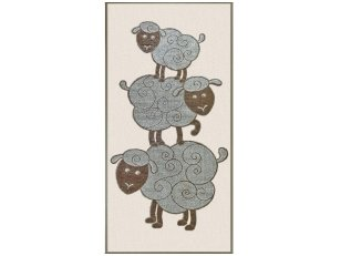 """Lininis rankšluostis  """"Avinėliai"""""""