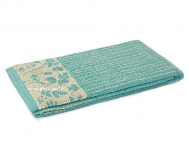 "Lininis rankšluostis ""Botanic"" (turquoise linium)"