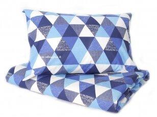 """Medvilnės patalynė """"Atradimas"""" (mėlynas) (140x200 cm, 50x70 cm)"""