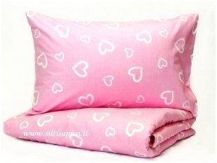 "Medvilnės patalynė ""Rožinė meilė"" (145x205 cm, 50x70 cm)"