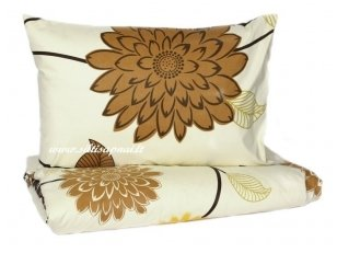 "Medvilnės patalynė ""Karamelinės gėlės"" (140x200 cm, 50x70 cm)"