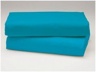 Medvilninė paklodė (mėlyna)