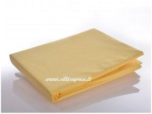 Medvilninė paklodė su guma (geltona)