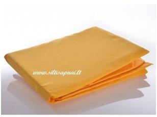 Medvilninė paklodė su guma (ryški geltona)