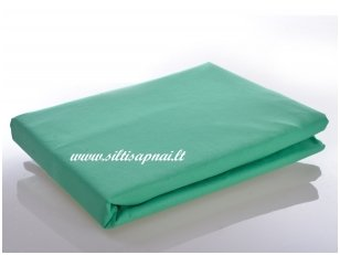 Medvilninė paklodė su guma (žalia)
