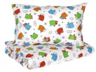 """Medvilniniai pagalvės užvalkalai """"Linksmosios avytės"""" (35x55 cm)"""