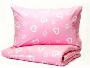 """Medvilninis pagalvės užvalkalas """"Rožinė meilė"""" (40x60 cm, 1 vnt)"""