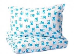 """Medvilninis pagalvės užvalkalas """"Traukinukai""""(40x60 cm, 1 vnt)"""