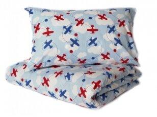 "Medvilninis pagalvės užvalkalas ""Lėktuvai"" (40x60 cm, 1 vnt)"