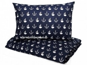 """Medvilninis pagalvės užvalkalas """"Jūreiviai"""" (40x60 cm)"""
