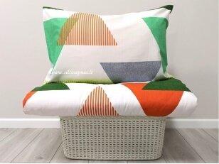 """Medvilninis pagalvės užvalkalas """"Trikampiai""""  (50x70 cm su užtrauktuku, 1 vnt)"""