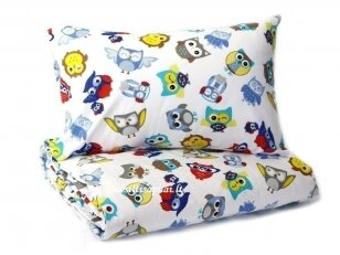 "Medvilninis pagalvės užvalkalas ""Linksmieji Pelėdžiukai"" (40x60 cm, 1 vnt)"